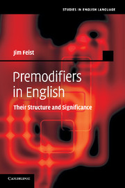 Premodifiers in English