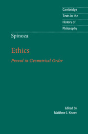 Spinoza: <I>Ethics</I>