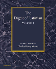 The Digest of Justinian