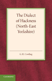 The Dialect of Hackness (North-East Yorkshire)