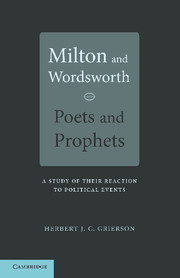 Milton and Wordsworth, Poets and Prophets