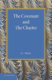 The Covenant and the Charter