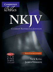 NKJV Clarion Reference Bible, Brown Calfskin Leather, NK485:X