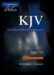 KJV Pitt Minion Reference Bible, Black Goatskin Leather, Red-letter Text, KJ446:XR