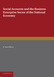Social Accounts and the Business Enterprise Sector of the National Economy