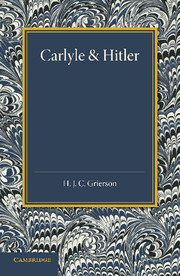 Carlyle and Hitler