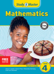 Study & Master Mathematics Teacher's Guide Grade 4