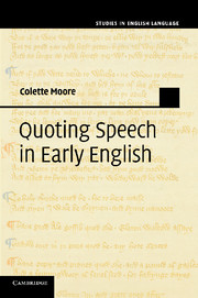 Quoting Speech in Early English