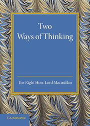 Two Ways of Thinking