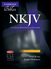 NKJV Clarion Reference Bible, Black Calf Split Leather, NK484:X