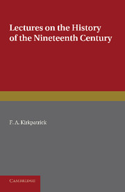 Lectures on the History of the Nineteenth Century