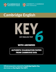 Cambridge English Key 6
