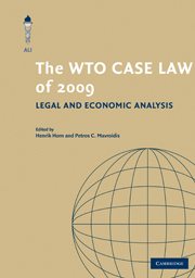 The WTO Case Law of 2009