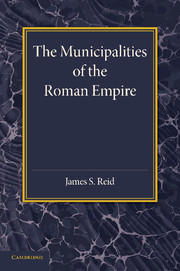 The Municipalities of the Roman Empire