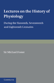 Lectures on the History of Physiology