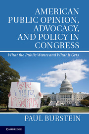 American Public Opinion, Advocacy, and Policy in Congress