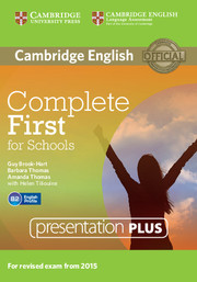 Complete First for Schools Presentation Plus DVD-ROM