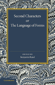 Second Characters or the Language of Forms