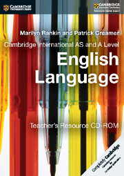 Cambridge International AS and A Level English Language Teacher's Resource CD-ROM