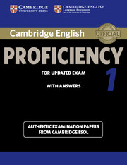Cambridge English Proficiency 1 for Updated Exam
