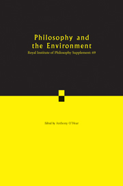 Philosophy and the Environment