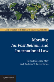 Morality, <I>Jus Post Bellum</I>, and International Law