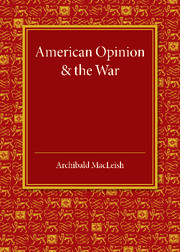 American Opinion and the War