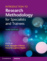 Introduction to Research Methodology for Specialists and Trainees