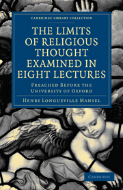 The Limits of Religious Thought Examined in Eight Lectures
