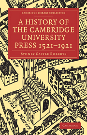 A History of the Cambridge University Press 1521–1921