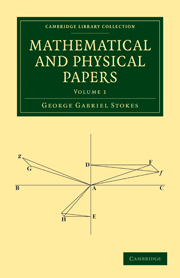 Mathematical and Physical Papers