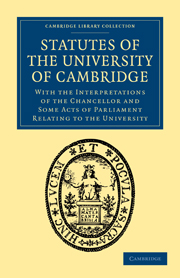 Statutes of the University of Cambridge