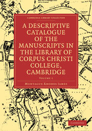 A Descriptive Catalogue of the Manuscripts in the Library of Corpus Christi College