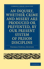 An Inquiry, whether Crime and Misery are Produced or Prevented, by our Present System of Prison Discipline