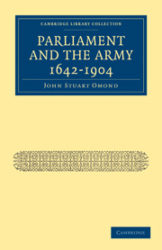 Parliament and the Army 1642–1904