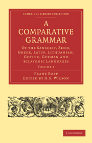 A Comparative Grammar of the Sanscrit, Zend, Greek, Latin, Lithuanian, Gothic, German, and Sclavonic Languages