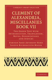Clement of Alexandria, Miscellanies Book VII
