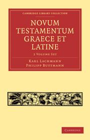 Novum Testamentum Graece et Latine 2 Volume Paperback Set