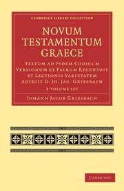Novum Testamentum Graece 2 Volume Paperback Set