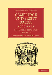 Cambridge University Press, 1696–1712