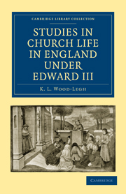 Studies in Church Life in England under Edward III