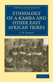 Ethnology of A-Kamba and Other East African Tribes