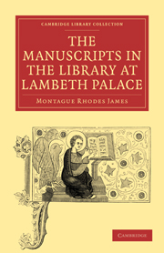 The Manuscripts in the Library at Lambeth Palace