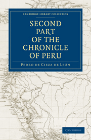 The Second Part of the Chronicle of Peru
