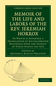 Memoir of the Life and Labors of the Rev. Jeremiah Horrox