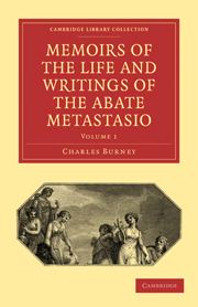 Memoirs of the Life and Writings of the Abate Metastasio