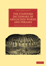 The Stanford Dictionary of Anglicised Words and Phrases