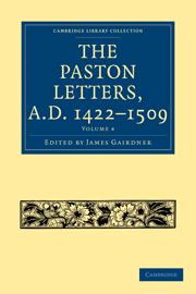 Paston Letters, A.D. 1422–1509