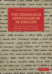 The Didascalia Apostolorum in English