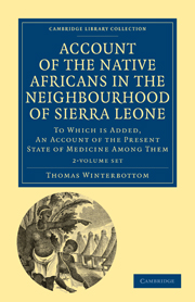 Account of the Native Africans in the Neighbourhood of Sierra Leone